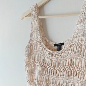 Forever 21 Tops - Forever21 Crochet Crop Tank Top
